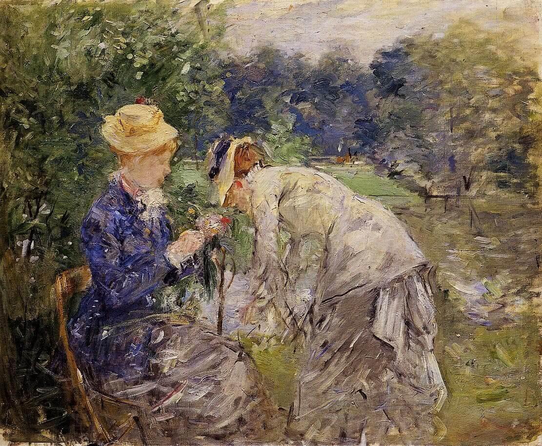 """""""Boulognen metsässä"""", Berthe Morisot"""